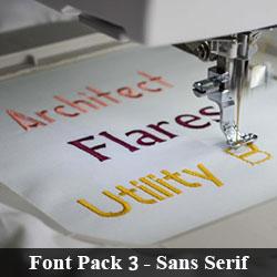 Font Pack 3 - Sans serif