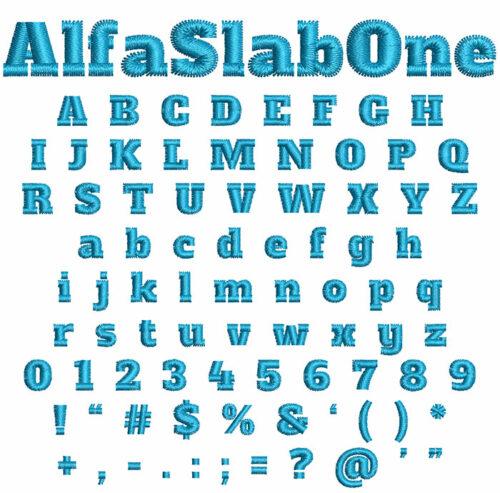Alpha Slab One Font