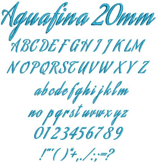 Agunafina 20mm Font