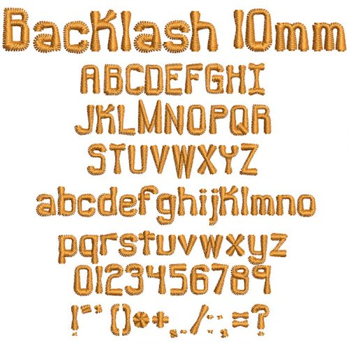 Backlash 10mm Font
