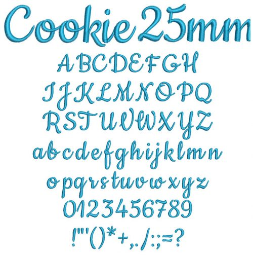 Cookie 25mm Font