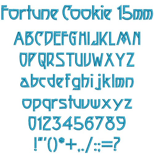 Fortune Cookie 15mm Font