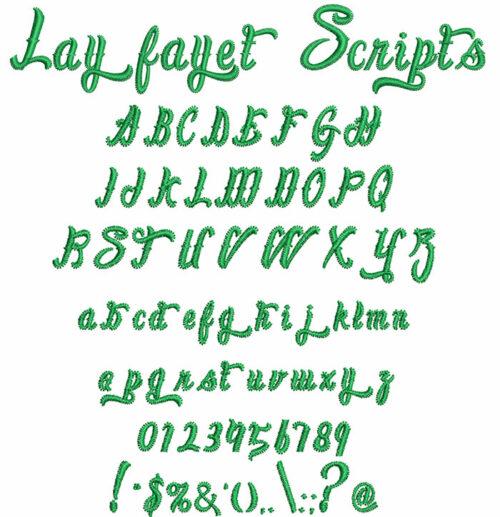 Layfayet Scripts Font