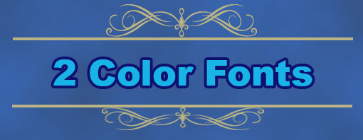 2 color fonts