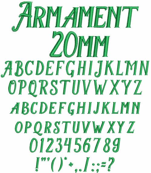 armament keyboard font