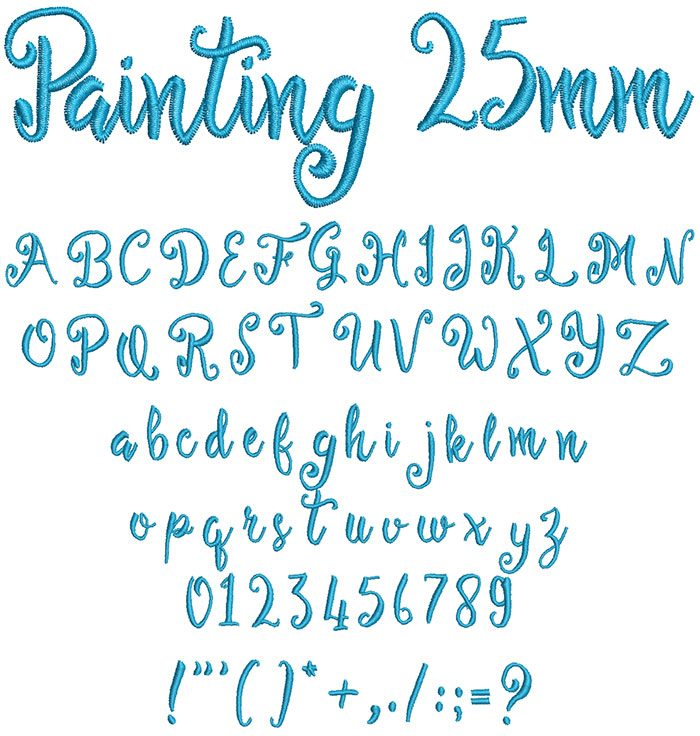 painting keyboard font letters