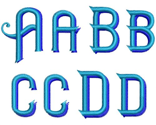 Haimdale 30mm 2 Color Font