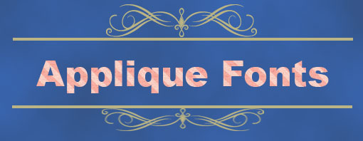 applique fonts