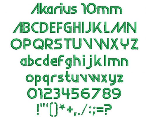 Akarius 10mm Font