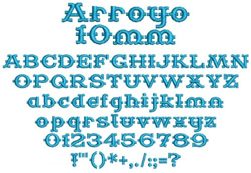Arroyo 10mm Font