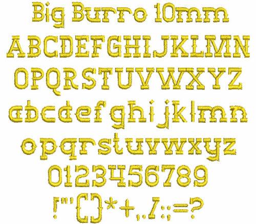 Big Burro 10mm Font