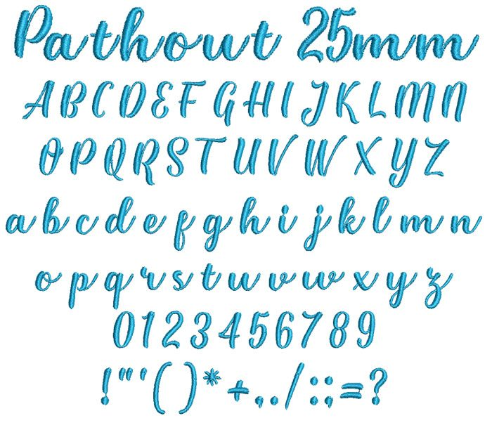 Pathout 25mm Font