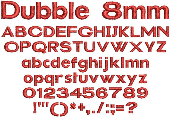 Dubble 8mm Font