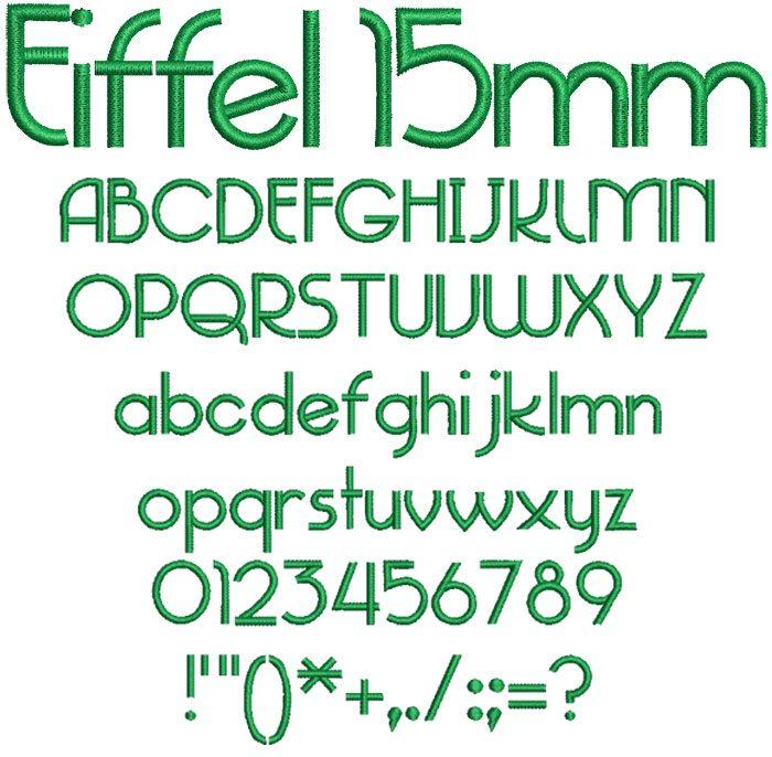 Eiffel 15mm Font