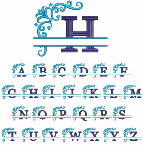 Split 2 Color Monogram
