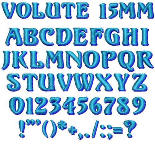 Volute 2 Color 15mm Font