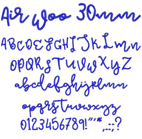 Air Woo 30mm Font