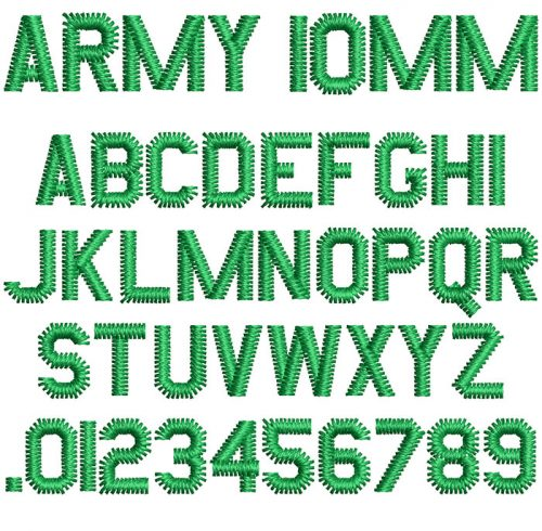 Army 10mm Font