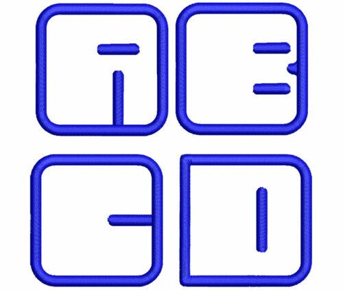 Air applique esa font letters icon