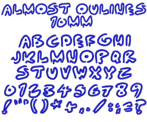 Almost Outlines 10mm Font