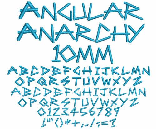 Angular Anarchy 10mm Font