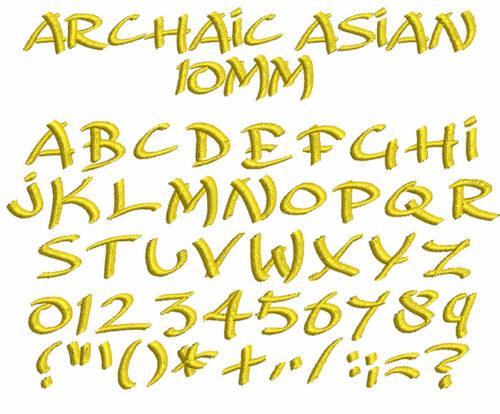 Archaic Asian 10mm Font
