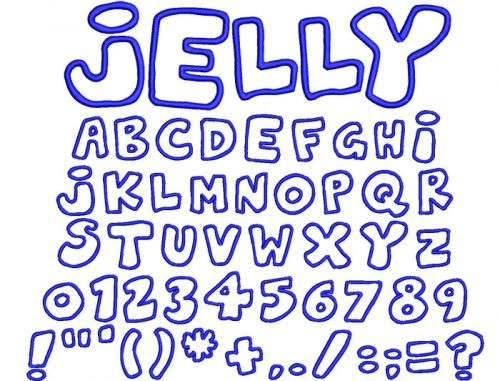 Jelly Applique 40mm Font