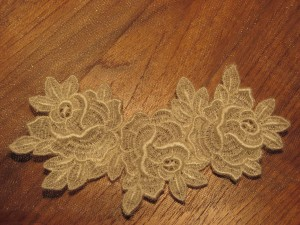 Free standing lace embroidery