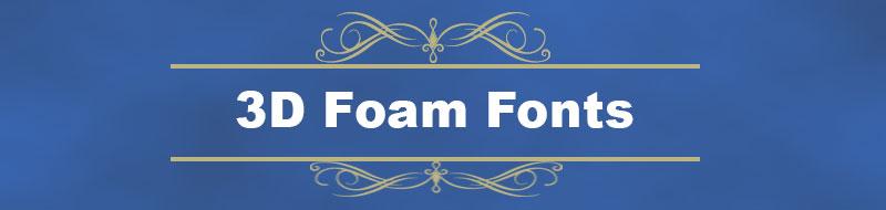 foam fonts