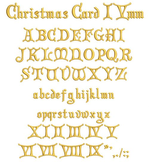 Christmas Card 15mm Font