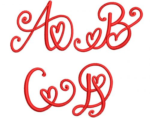 Crafty Heart Mono 50mm Font