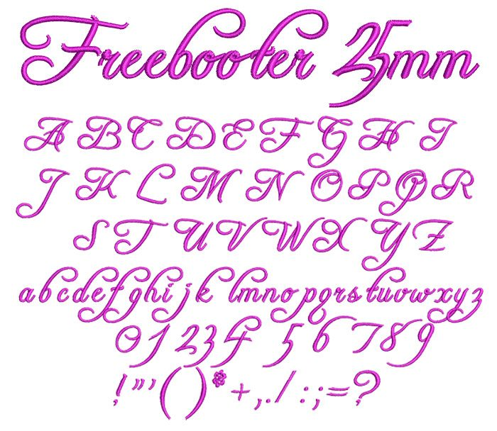 Freebooter 25mm Font