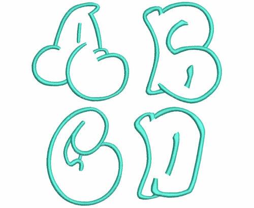 Graffiti Applique 7 Font
