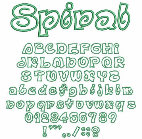 Spiral Applique 50mm Font
