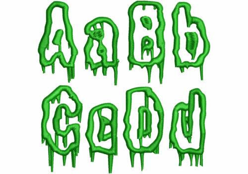 Swamp Applique Font