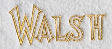 Walsh 40mm Font