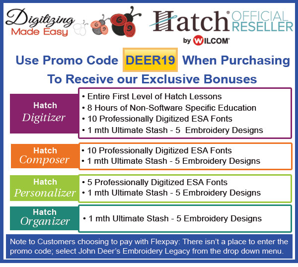 Purchase Hatch through Digitizing