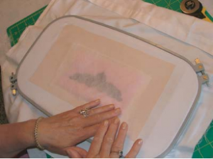organza embroidery project
