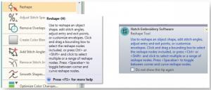 hatch 2 new toolbar tips
