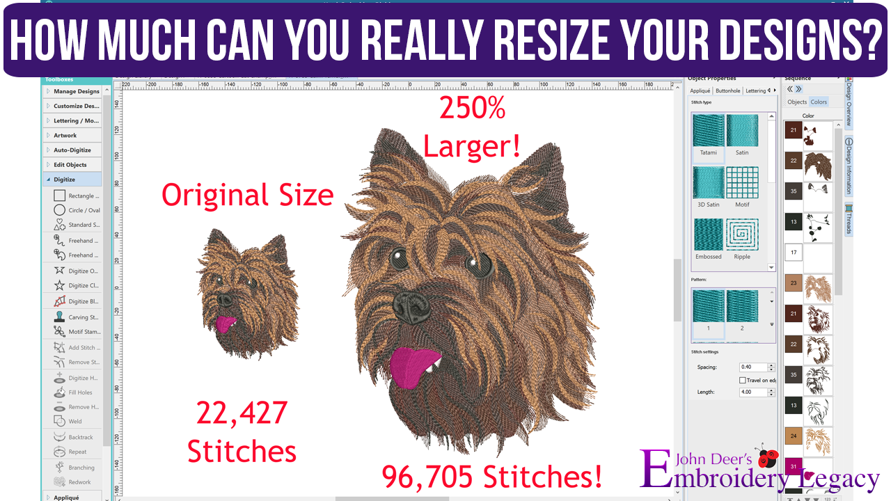 Rules for Resizing Machine Embroidery Designs | How to Guide
