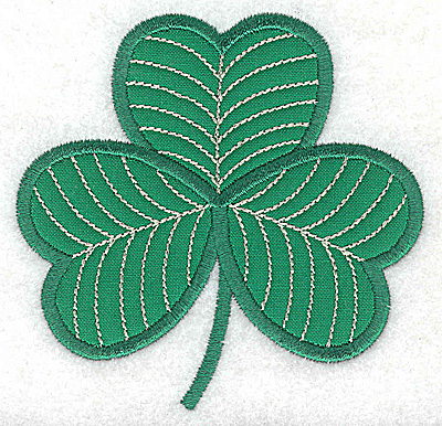 Embroidery Design: Shamrock small applique 3.84w X 3.77h