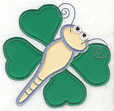 Embroidery Design: Shamrock butterfly applique wings 4.93w X 4.79h