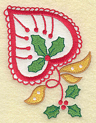Embroidery Design: Christmas Paisley design B applique small 2.80w X 3.79h