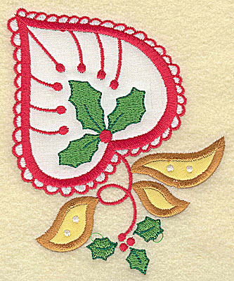 Embroidery Design: Christmas Paisley design B applique large 4.05w X 4.98h