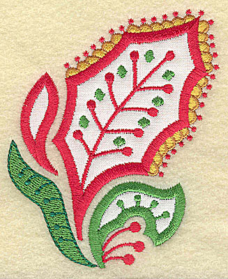 Embroidery Design: Christmas Paisley design C applique small 3.08w X 3.79h