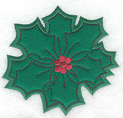 Embroidery Design: Holly applique A small 3.89w X 3.72h