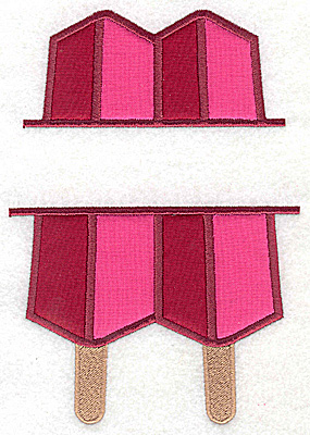 Embroidery Design: Popsicle large applique 6.92w X 4.78h