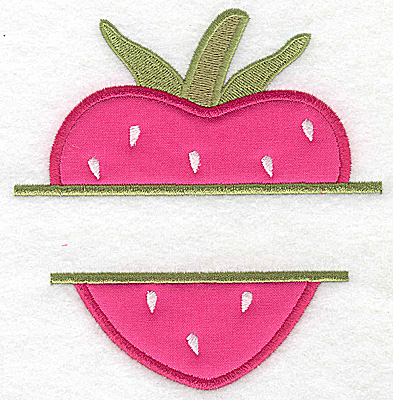 Embroidery Design: Strawberry large applique 4.68w X 4.92h