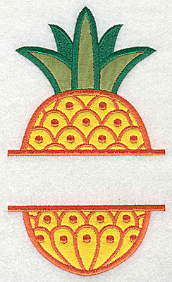 Embroidery Design: Pineapple large double applique 6.57w X 3.78h