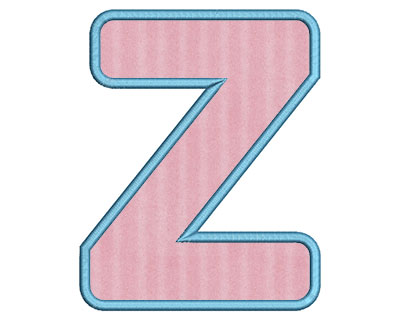 Embroidery Design: Z Bold Applique Large 4.60w X 5.76h
